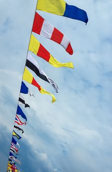 Free Nautical Flags Royalty Free Stock Image - 34889356