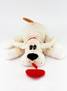 Free Beige Bunny Dog With Red Heart Stock Images - 34892514