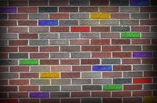Free Grunge Colored Brick Wall Stock Photography - 34890902