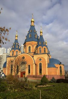 Russia. Temple Of Icon Of The Mother Of God. Royalty Free Stock Photo
