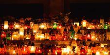 Free Burning Candles At Night Royalty Free Stock Photos - 34895098