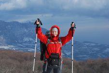 Free Happy Hiker Royalty Free Stock Photos - 34896618