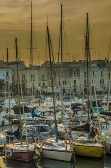 Free Trani Harbor Stock Photo - 34897260
