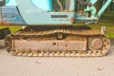 Free Excavator Tracks Stock Photo - 34897990