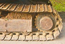 Free Excavator Tracks Royalty Free Stock Photo - 34898335