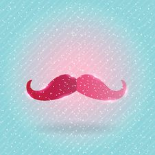Free Christmas Mustache On Snow Background Royalty Free Stock Image - 34899496
