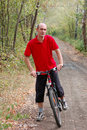 Free Man Biking Royalty Free Stock Photography - 3494957