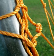 Knotted Orange Rope Royalty Free Stock Photos
