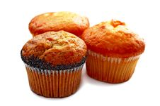 Free Three Muffins Isolated Stock Images - 3491334