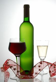 Free Red And White Wine Stock Image - 3491641