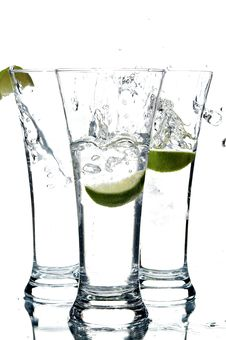 Free Glass With Water And Lemon Stock Photo - 3492010