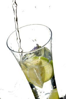 Free Glass With Water And Lemon Royalty Free Stock Images - 3492029
