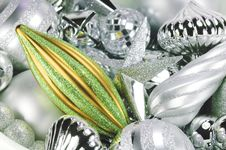Free Silver And Green Ornaments Stock Photos - 3492193