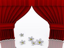 Free Stage With Flower Stock Images - 3492344