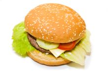 Free Cheeseburger With Sesame Stock Photography - 3492412