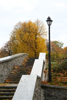 Free Stairs To The Autumn. Stock Photography - 3492842