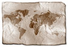 Free Earth On Paper Royalty Free Stock Photography - 3492847
