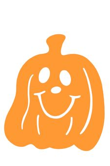 Free Halloween Pumpkin Smiling Royalty Free Stock Images - 3493019