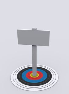 Board On Target Royalty Free Stock Photography