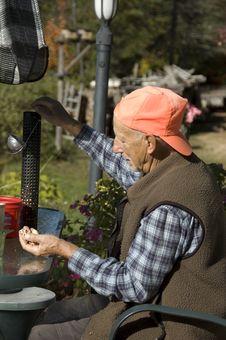 Free Busy Elderly Man 2 Stock Photos - 3493523