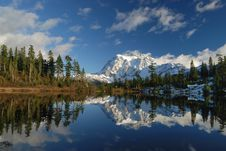 Free Picture Lake And Mount Shuksan Stock Image - 3494371