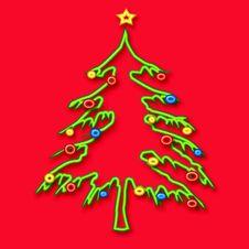 Free Christmas Tree Tubular Stock Photography - 3494472