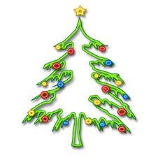 Free Christmas Tree Tubular Royalty Free Stock Photography - 3494477