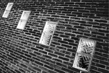Free Windows In A Brick Wall Royalty Free Stock Images - 3494639
