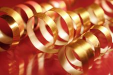 Free Golden Ribbons Royalty Free Stock Photo - 3495425