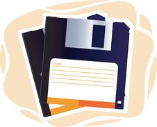 Free Two Floppy Discs Royalty Free Stock Photo - 3495585