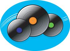 Free Three Musical Discs Stock Photography - 3495792