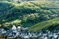 Free Small Village Along The Mosel Royalty Free Stock Photography - 3495947