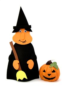 Free Witch And Pumpkin Royalty Free Stock Image - 3495966