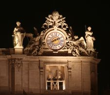 Free St. Peter S Clock / Night Stock Images - 3495984