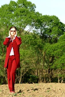 Free Business Woman In Wilderness Stock Photo - 3496550