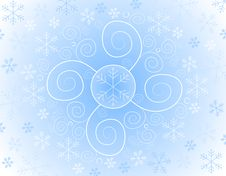 Free Abstract Snowflake Background Royalty Free Stock Images - 3497379