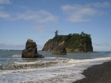 Free Seastacks At Ruby Beach Stock Photos - 3499813
