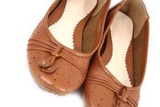 Free Women Brown Shoes Isolated On Stock Photography - 3499862