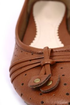 Free Women Brown Shoes Isolated On Royalty Free Stock Images - 3499869