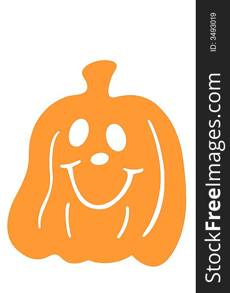 Halloween pumpkin smiling