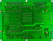 Free Printed Green Computer Circuit Board Stock Photos - 34901763