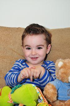 Free Cute Little Boy Portrait Stock Image - 34909381