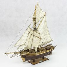 Free Sailing Ship Model Royalty Free Stock Photo - 34909475