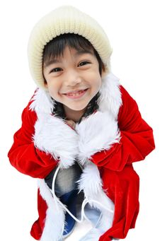 Free Little Santa Boy Stock Photo - 34913470