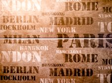 City Name Royalty Free Stock Photo
