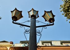 Street Lamp Against The Blu Sky Stock Images