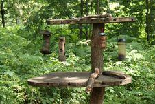 Bird Feeding Table. Stock Photos