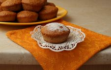 Free Homemade Cake On A Plate Royalty Free Stock Image - 34919666