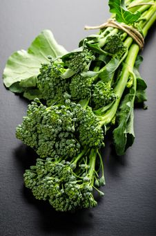 Sprouting Broccoli Bouquet Royalty Free Stock Photo