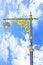 Free Golden Lighting Pole On Blue Sky Stock Photo - 34913880